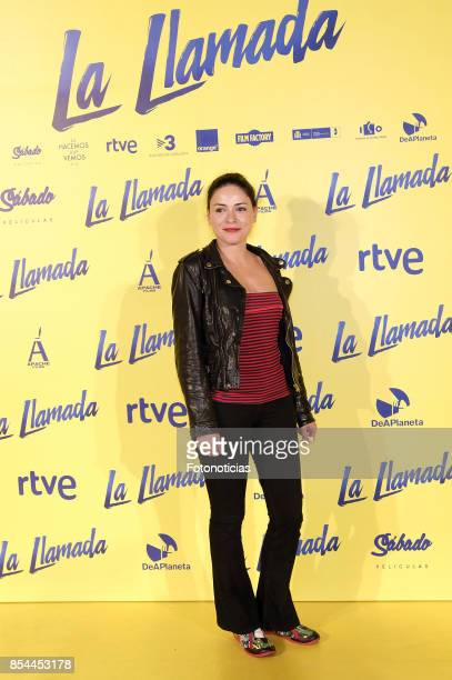 Ana Arias attends the 'La Llamada' premiere yellow carpet at the Capitol cinema on September 26 2017 in Madrid Spain