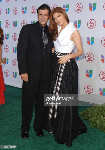 Ana Barbara and guest during The 6th Annual Latin GRAMMY Awards Arrivals at Shrine Auditorium in Los Angeles California United States