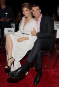 Ana Barbara and Juan Soler attend Telemundo's 'Marido en Alquiler' Presentation at Telemundo Studios on July 10 2013 in Miami Florida
