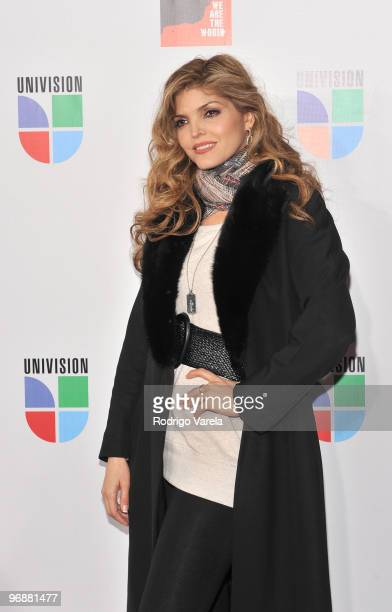 Ana Barbara arrives at recording of 'Somos El Mundo' 'We Are The World' by Latin recording artist at American Airlines Arena on February 19 2010 in...