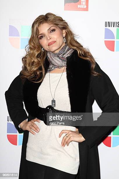 Ana Barbara arrives at recording of 'Somos El Mundo' 'We Are The World' by Latin recording artits at American Airlines Arena on February 19 2010 in...