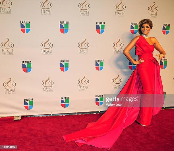 Ana Barbara arrives at Univisions 2010 Premio Lo Nuestro a La Musica Latina Awards at American Airlines Arena on February 18 2010 in Miami Florida