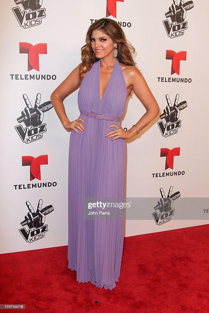 Ana Barbara attends Telemundo's 'La Voz Kids Finale on July 27, 2013 in Miami, Florida.