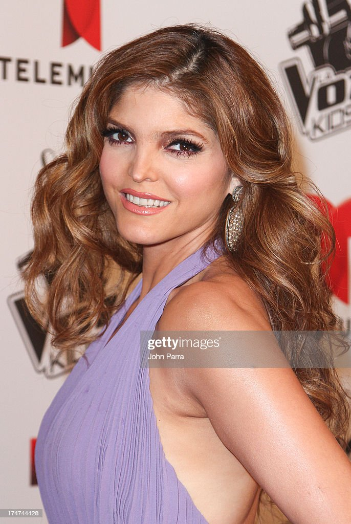 Ana Barbara attends Telemundo's 'La Voz Kids Finale on July 27, 2013 in Miami, Florida.