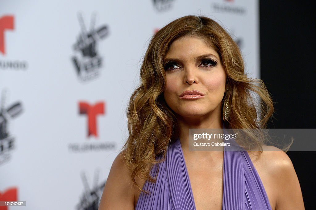 <a gi-track='captionPersonalityLinkClicked' href=/galleries/search?phrase=Ana+Barbara&family=editorial&specificpeople=2164808 ng-click='$event.stopPropagation()'>Ana Barbara</a> attends Telemundo's 'La Voz Kids Finale on July 27, 2013 in Miami, Florida.