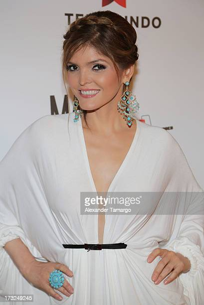 Ana Barbara attends Telemundo's 'Marido en Alquiler' Presentation at Telemundo Studios on July 10 2013 in Miami Florida