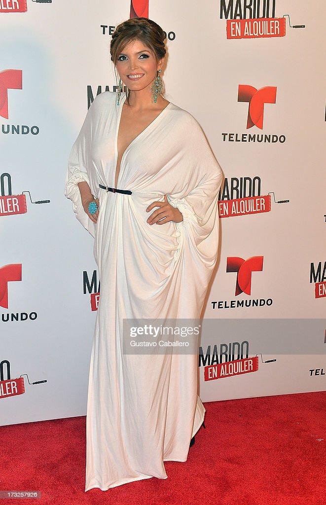 Ana Barbara attends Telemundos 'Marido en Alquiler' Presentation on July 10, 2013 in Miami, Florida.