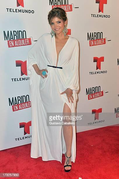 Ana Barbara attends Telemundos 'Marido en Alquiler' Presentation on July 10 2013 in Miami Florida