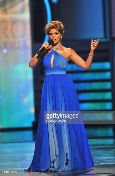 Ana Barbara on stage at Univisions 2010 Premio Lo Nuestro a La Musica Latina Awards at American Airlines Arena on February 18 2010 in Miami Florida