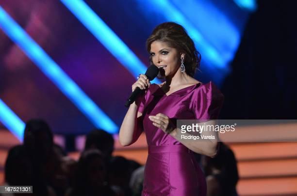 Ana Barbara performs at Billboard Latin Music Awards 2013 at Bank United Center on April 25 2013 in Miami Florida