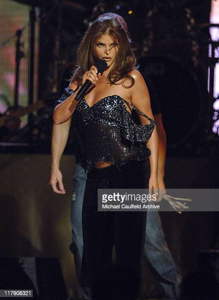 Ana Barbara performs 'Lo Busque' during The 6th Annual Latin GRAMMY Awards Show at Shrine Auditorium in Los Angeles CA United States