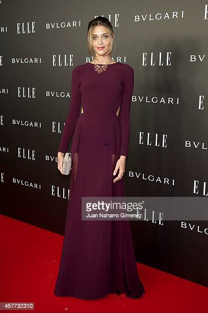 Ana Beatriz Barros attends Elle Style Awards 2014 photocall at Italian Embassy on October 23 2014 in Madrid Spain