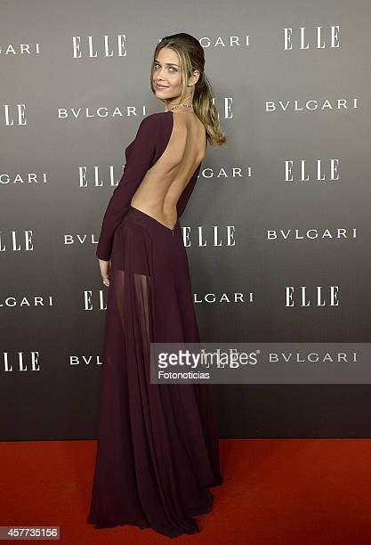 Ana Beatriz Barros attends the Elle Style Awards party at the Italian Embassy on October 23 2014 in Madrid Spain