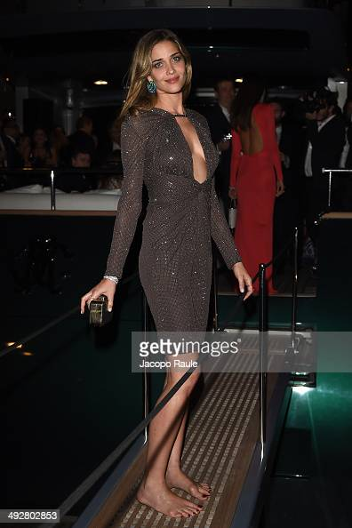 Ana Beatriz Barros attends the 'Roberto Cavalli Annual Party Aboard' Outside Arrivals at the 67th Annual Cannes Film Festival on May 21 2014 in...
