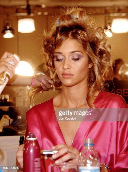 Ana Beatriz Barros during 11th Victoria's Secret Fashion Show Backstage at Kodak Theatre in Hollywood California United States