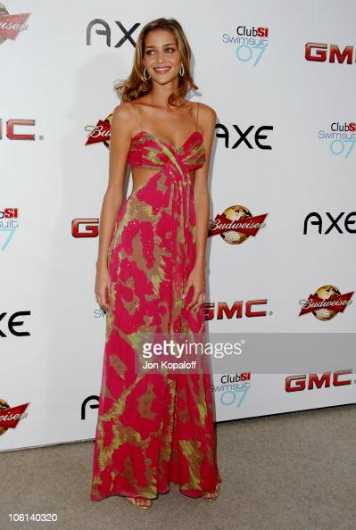 Ana Beatriz Barros during 2007 Sports Illustrated Swimsuit Issue Party at Pacific Design Center in Los Angeles California United States