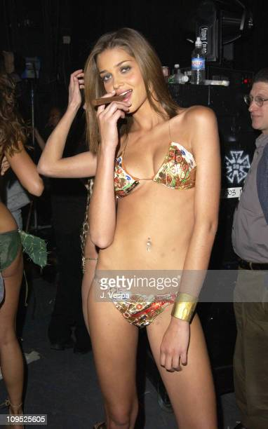 Ana Beatriz Barros during MTV's Fashionably Loud presents the Sports Illustrated 2002 Swimsuit Issue Backstage at Hammerstein Ballroom in New York...
