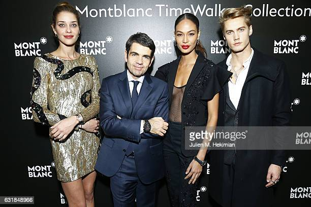 Ana Beatriz Barros MontBlanc CEO Jerome Lambert Joan Smalls and Neels Visser attend the Montblanc Gala Dinner At Brasserie Des Halles as part of the...
