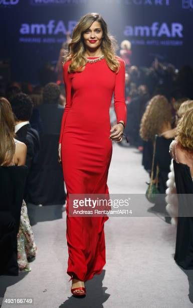 Ana Beatriz Barros walks the runway during amfAR's 21st Cinema Against AIDS Gala Presented By WORLDVIEW BOLD FILMS And BVLGARI at Hotel du CapEdenRoc...
