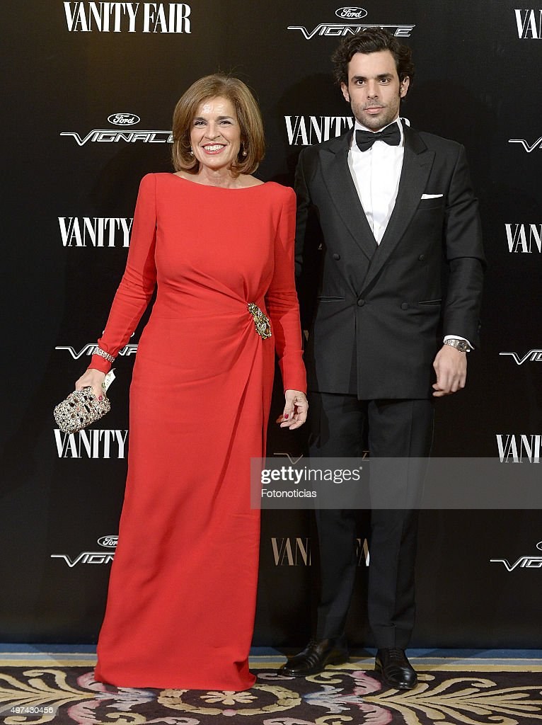 Ana Botella and Alonso Aznar attend the 'Vanity Fair Personality Of The Year' Gala at The Ritz Hotel on November 16 2015 in Madrid Spain