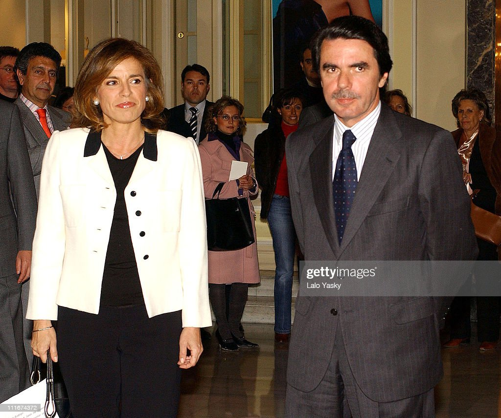 <a gi-track='captionPersonalityLinkClicked' href=/galleries/search?phrase=Ana+Botella&family=editorial&specificpeople=235432 ng-click='$event.stopPropagation()'>Ana Botella</a> and husband Spain's Former Prime Minister <a gi-track='captionPersonalityLinkClicked' href=/galleries/search?phrase=Jose+Maria+Aznar&family=editorial&specificpeople=208947 ng-click='$event.stopPropagation()'>Jose Maria Aznar</a>