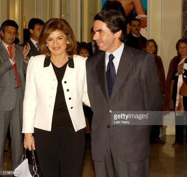 Ana Botella and husband Spain's Former Prime Minister Jose Maria Aznar