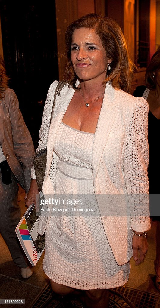 Ana Botella attends a charity cocktail at Casa Decor in Madrid on May 25 2011 in Madrid Spain