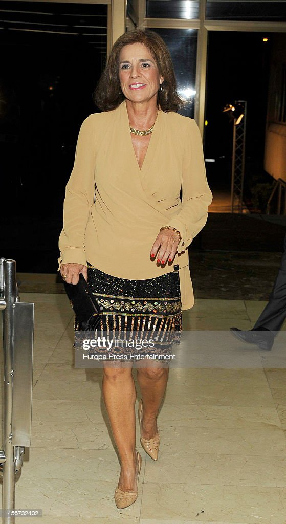 Ana Botella attends a dinner in honour of 'Mariano de Cavia' 'Mingote' and 'Luca de Tena' awards winners at Casa de ABC on October 3 2014 in Madrid...