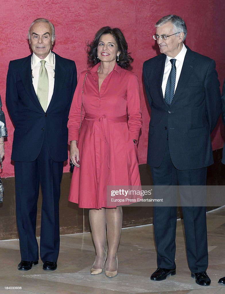 Ana Botella attends a homage to Princess Margarita's husband Carlos Zurita for his 25th anniversary as president of Prado Museum's Friends Foundation...