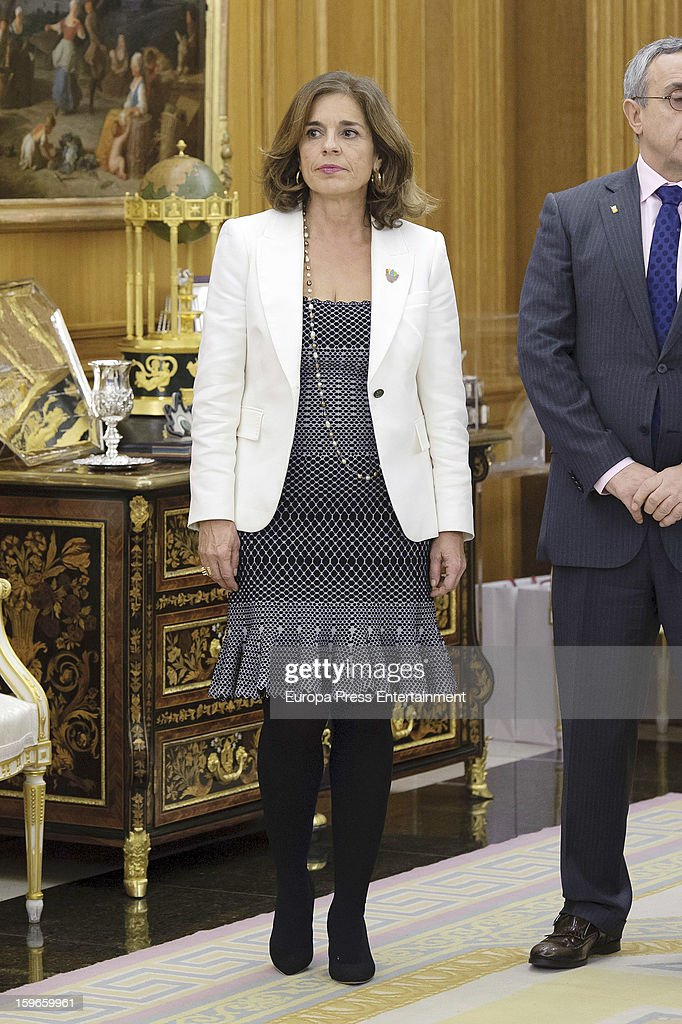 Ana Botella attends audiences to Spanish olympic delegation and receives Madrid bid files at Zarzuela Palace on January 17, 2013 in Madrid, Spain. Madrid is one of the three candidate cities to host the 2020 Olympics Games.