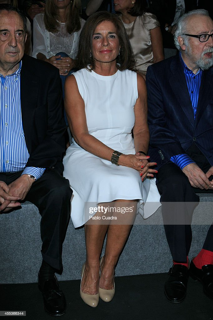 Ana Botella attends Mercedes Benz Fashion Week Madrid at Ifema on September 13 2014 in Madrid Spain