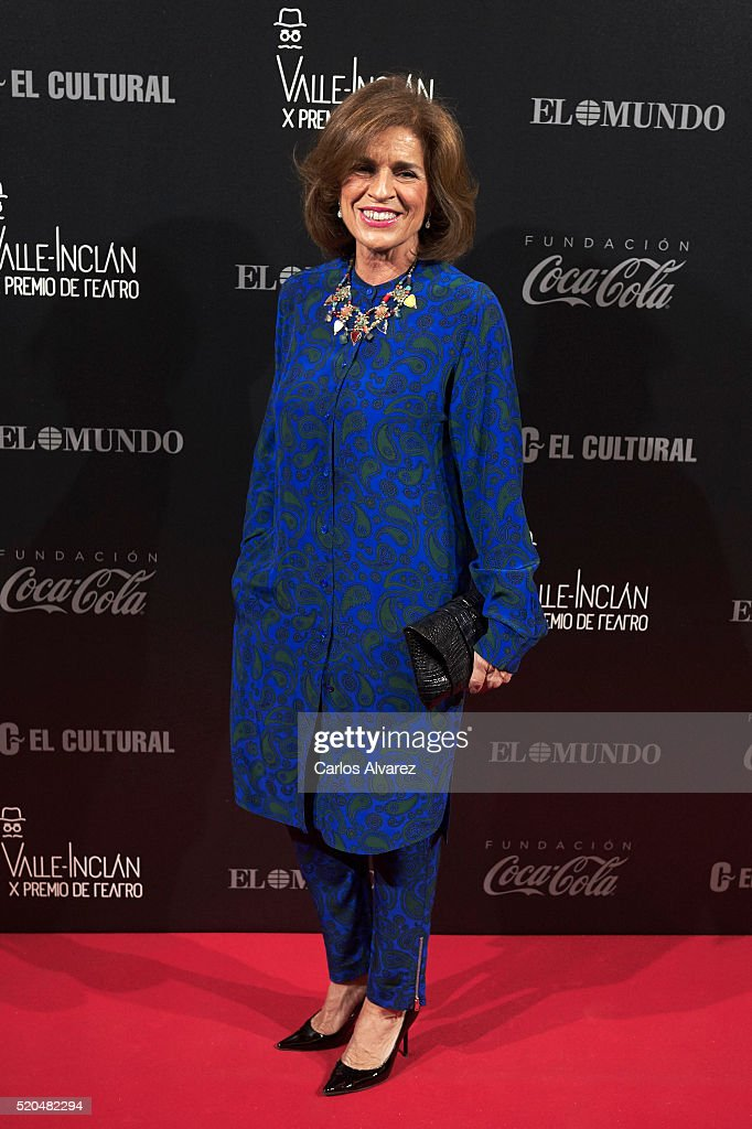 Ana Botella attends the 10th ValleInclan Theatre awards at the Royal Theatre on April 11 2016 in Madrid Spain