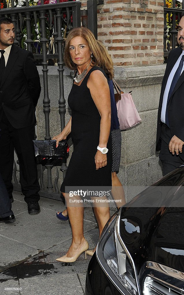 Ana Botella attends the funeral for Isidoro Alvarez president of El Corte Ingles who died at 79 aged on September 15 2014 in Madrid Spain