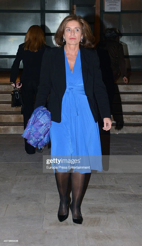 Ana Botella attends the funeral service for Graciliano Barrerios at San Jeronimo el Real church on October 16 2014 in Madrid Spain