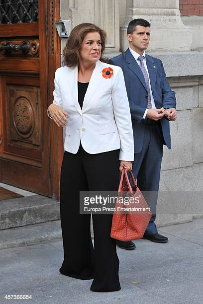 Ana Botella attends the presentation of the 23th Edition Spanish Dictionary 'Edicion del Tricentenario' on October 17 2014 in Madrid Spain