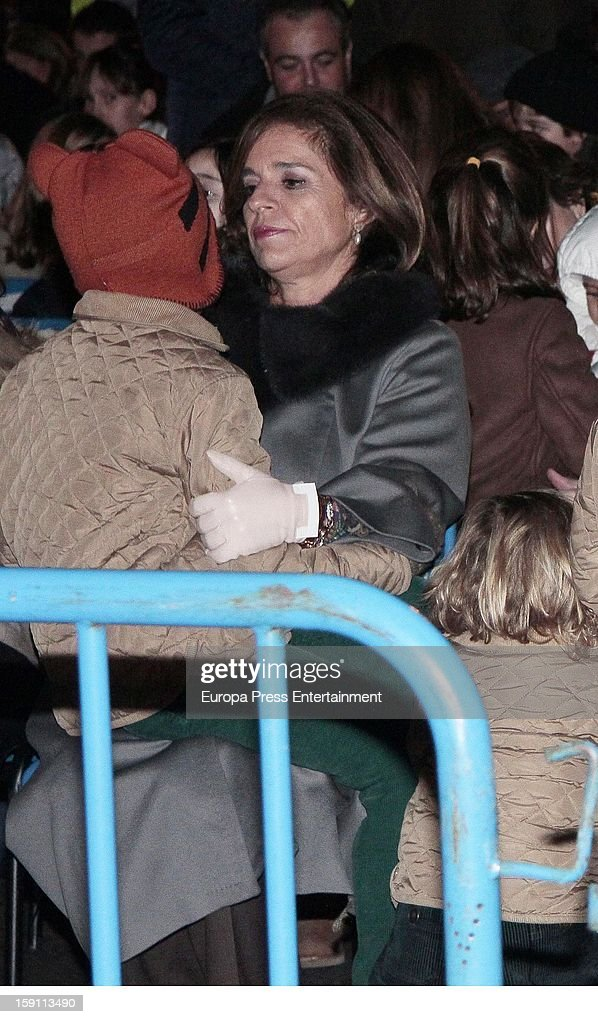 Ana Botella attends the procession of the Wise Men on January 5, 2013 in Madrid, Spain.