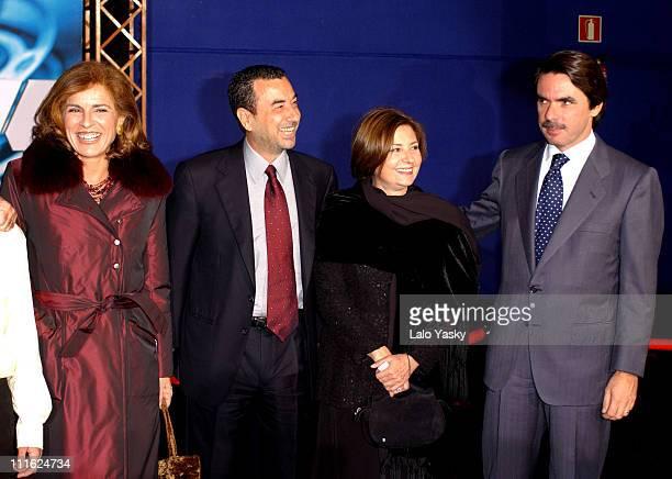 Ana Botella director Jose Luis Garcia Tina Saenz Spanish Prime Minister Jose Maria Aznar