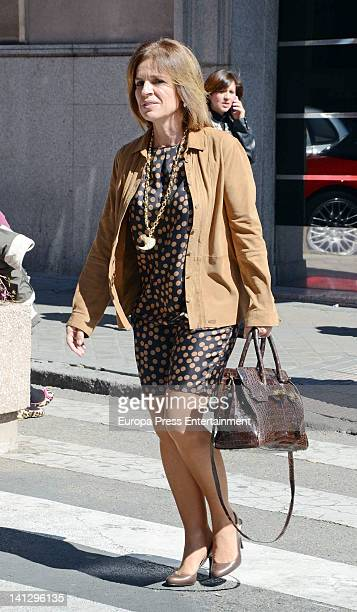 Ana Botella is seen leaving Ruber Hospital on March 13 2012 in Madrid Spain