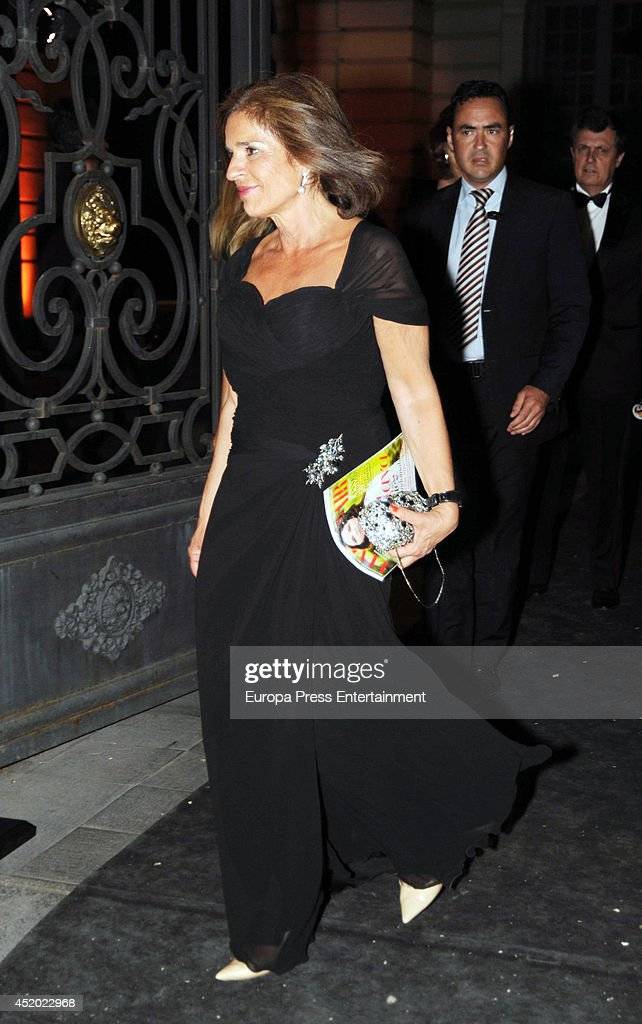 Ana Botella leaves the party Vanity Fair Personality Of The Year on July 10 2014 in Madrid Spain