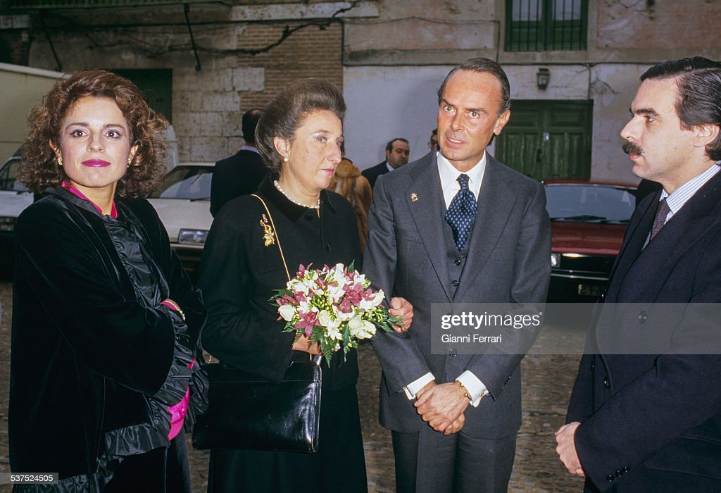 Ana Botella wife of Jose Maria Aznar the Princess Margarita of Borbon sister of King Juan Carlos de Borbon Carlos Zurita husband of Infanta Margarita...
