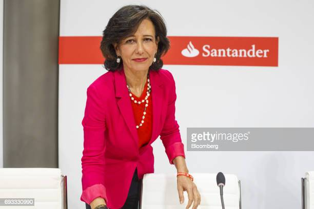 Ana Botin chairman of Banco Santander SA looks on ahead of a news conference in Madrid Spain on Wednesday June 7 2017 Santander agreed to take...