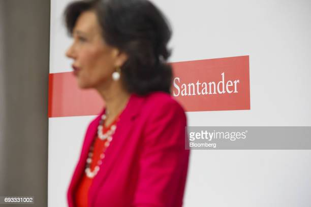 Ana Botin chairman of Banco Santander SA speaks during a news conference in Madrid Spain on Wednesday June 7 2017 Santander agreed to take overBanco...