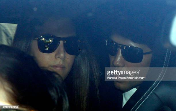 Ana Boyer and Fernando Verdasco attend the funeral for Miguel Boyer at San Isidro Graveyard on September 30 2014 in Madrid Spain Spanish politician...