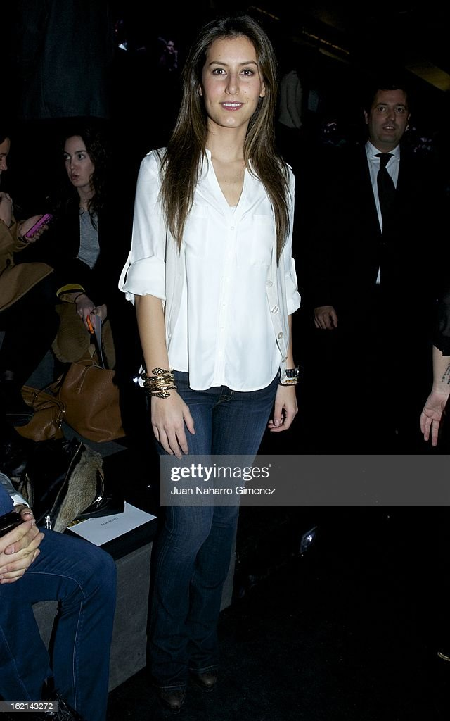 <a gi-track='captionPersonalityLinkClicked' href=/galleries/search?phrase=Ana+Boyer&family=editorial&specificpeople=4043272 ng-click='$event.stopPropagation()'>Ana Boyer</a> attends a fashion show during the Mercedes Benz Fashion Week Madrid Fall/Winter 2013/14 at Ifema on February 19, 2013 in Madrid, Spain.