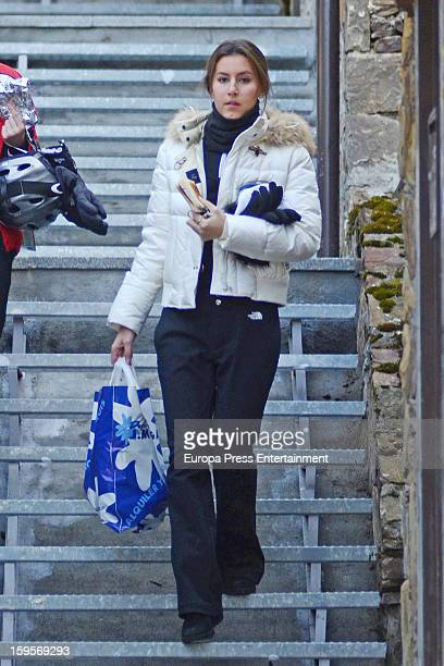 Ana Boyer is seen on December 28 2012 in Baqueira Beret Spain