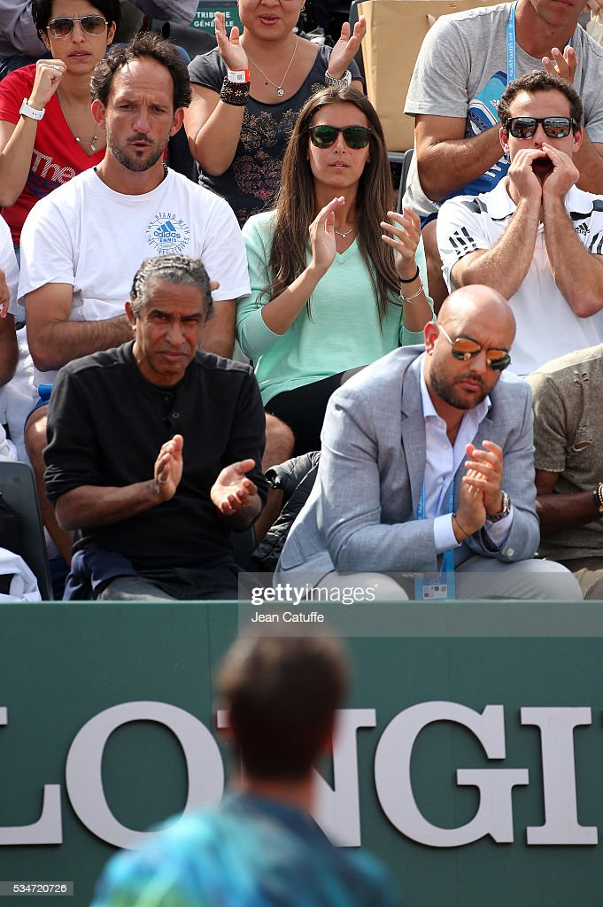 Ana Boyer Preysler supports her boyfriend Fernando Verdasco of Spain during his match against Kei Nishikori of Japan on day 6 of the 2016 French Open held at Roland-Garros stadium on May 27, 2016 in Paris, France.