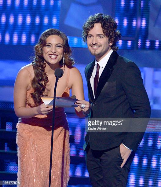 Ana Brenda Contreras and Tommy Torres onstage during the 13th annual Latin GRAMMY Awards held at the Mandalay Bay Events Center on November 15 2012...