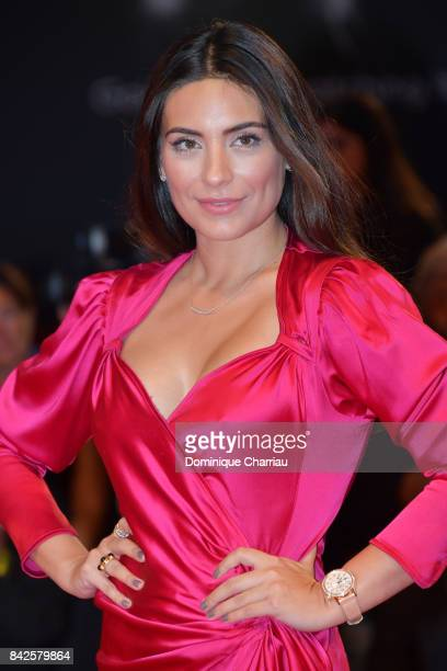 Ana Brenda Contreras walks the red carpet ahead of the 'Three Billboards Outside Ebbing Missouri' screening during the 74th Venice Film Festival at...