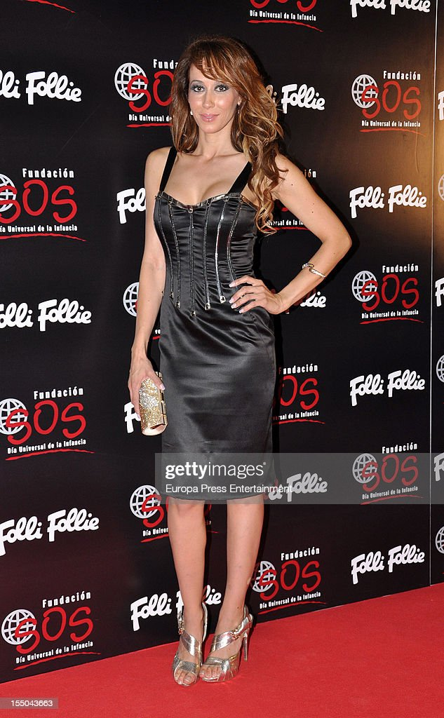 Ana Candi attends the 'Folli Follie' campaign launch on October 30, 2012 in Madrid, Spain.