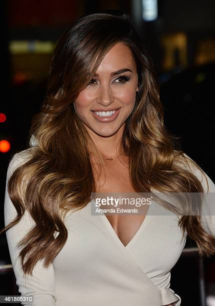 Ana Cheri arrives at the Los Angeles premiere of 'Manny' at the TCL Chinese Theatre on January 20 2015 in Hollywood California